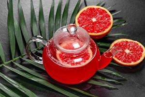 Hintergrundbilder Pfeifkessel Tee Grapefruit