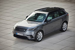 Fonds d'écran Land Rover Crossover Gris Métallique 2018-20 Velar R-Dynamic P300 SE Worldwide Voitures