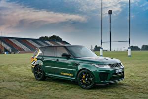 Hintergrundbilder Land Rover Fahrzeugtuning Grün Metallisch 2019 Sport SVR Springboks by SVO auto