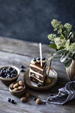 Bilder Törtchen Kerzen Süßigkeiten Heidelbeeren