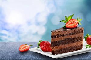 Hintergrundbilder Törtchen Erdbeeren Schokolade