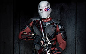 Fotos Suicide Squad 2016 Will Smith Mann Masken Deadshot Film