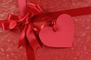 Fotos Valentinstag Herz Schleife Rot