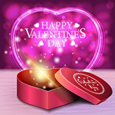 Fotos Valentinstag Vektorgrafik Englisches Wort Herz Geschenke