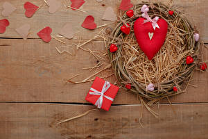 Pictures Valentine's Day Boards Gifts Heart Straw Bowknot Nest