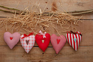 Pictures Valentine's Day Boards Straw Heart Branches Bow knot