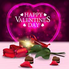 Fotos Vektorgrafik Valentinstag Rose Englisch Wort Rot Herz Blütenblätter Blumen