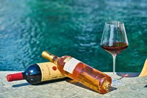 Fotos Wein Flasche Weinglas das Essen