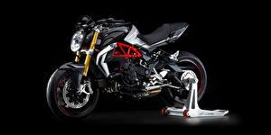 Hintergrundbilder Schwarzer Hintergrund Seitlich 2015-20 MV Agusta Brutale 800 RR Motorräder