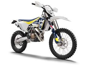 Fotos Weißer hintergrund Weiß 2016-20 Husqvarna TX 125 Motorrad