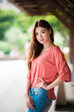 Hintergrundbilder Asiaten Posiert Haar Braune Haare Süße Blick Schön Mädchens