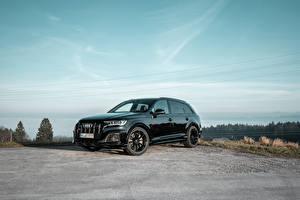 Hintergrundbilder Audi Grün Metallisch 2019-20 ABT SQ7 TDI auto