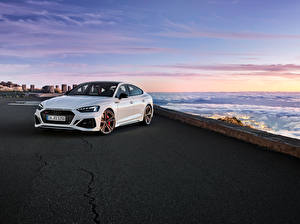 Pictures Audi White Metallic 2019-20 RS 5 Sportback Worldwide Cars