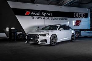 Wallpapers Audi White Metallic 2019 ABT A6 3.0 TDI Avant auto