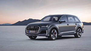 Fonds d'écran Audi Grise 2019 SQ7 TDI Worldwide voiture