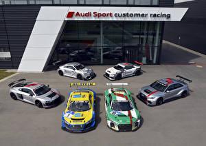 Bakgrundsbilder på skrivbordet Audi Många Tuning automobil