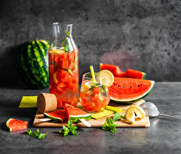 Images Berry Watermelons Juice Jar Highball glass Sliced food Food