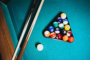 Pictures Billiards From above Balls athletic