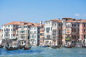 Bilder Boot Italien Gebäude Venedig Grand canal Städte
