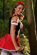 Pictures Bryoni-Kate Williams Waitress Uniform Smile female
