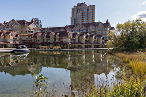 Image Canada Building River Berth Powerboat Kelowna Cities