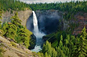 Fotos Kanada Parks Wald Wasserfall Felsen Helmcken Falls Wells Gray NP