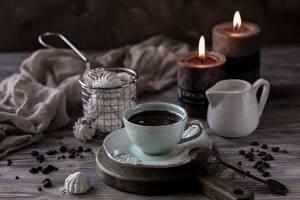 Fotos Kerzen Kaffee Tasse Löffel Getreide  das Essen