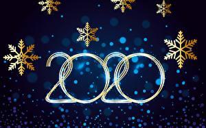 Bilder Neujahr Feiertage Schneeflocken 2020