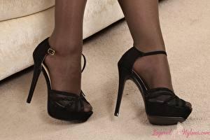 Image Closeup Legs High heels Girls