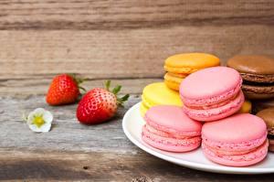 Bilder Kekse Macaron Rosa Farbe das Essen
