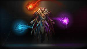 Desktop wallpapers DOTA 2 Invoker Sorcery Warrior Elves Armor Games Fantasy