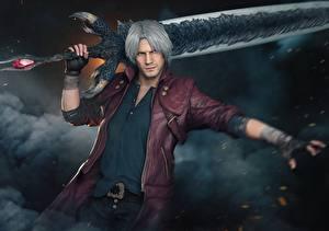 Bilder Dante Devil May Cry 5 Schwert Jacke