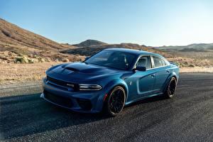 Images Dodge Light Blue Charger Hellcat SRT automobile