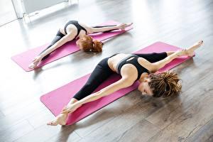 Wallpaper Fitness Dreadlocks Stretching Hands Legs 2 female
