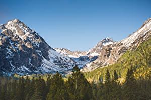 Fonds d'écran Forêts Montagnes Photographie de paysage Neige Tatras Mountains