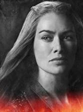 Fotos Game of Thrones Lena Headey Nahaufnahme Gesicht Starren Cersei Lannister Film Prominente