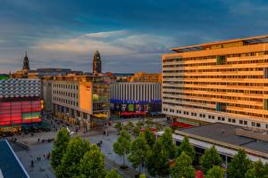 Fonds d'écran Allemagne Dresde Bâtiment Soir Rue