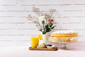 Pictures Holidays Rose Torte Juice Mother's Day Vase English Word - Lettering Wall Highball glass Food