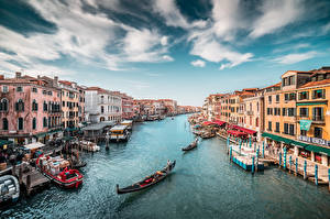 Bilder Italien Boot Venedig Kanal Städte