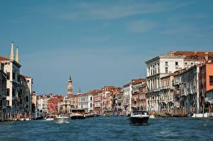 Fotos Italien Motorboot Gebäude Venedig Grand canal