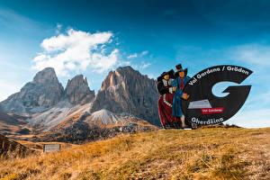 デスクトップの壁紙、、イタリア、山、Val Gardena, South Tyrol, Dolomites、