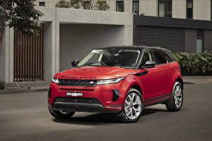 Hintergrundbilder Land Rover Softroader Rot 2019-20 Evoque D240 SE auto