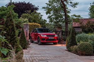 Papel de Parede Desktop Land Rover Veículo utilitário esportivo Vermelho Metálico 2019-20 Sport HST carro