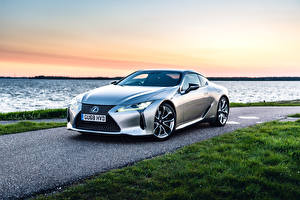 Picture Lexus Silver color 2017-19 Lexus LC 500h automobile
