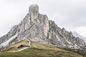 桌面壁纸,,山,意大利,Dolomites, La Gusela Peak,