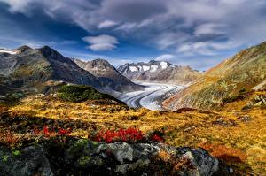 Fonds d'écran Montagne Suisse Alpes Aletsch Glacier