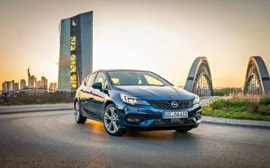 Sfondi desktop Opel Celeste colore Metallico 2019-20 Astra Ultimate Auto