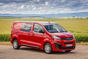 Desktop hintergrundbilder Opel Ein Van Rot Metallisch 2019-20 Vivaro CrewVan auto