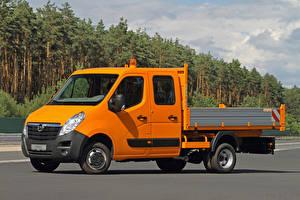 Sfondi desktop Opel Autocarro Arancione 2010-20 Movano Double Cab Chassis