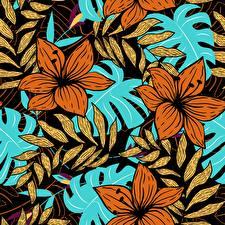 Hintergrundbilder Gezeichnet Textur Blattwerk Ast Blumen